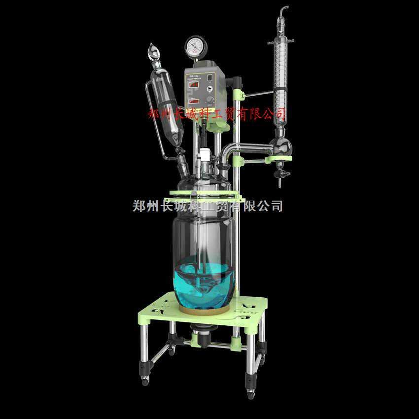 GR-10L变频调速双层玻璃反应釜