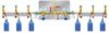 M95863气体汇流排/汇流排/氮气汇流排(2*3,双侧,6个瓶,每侧3个瓶)